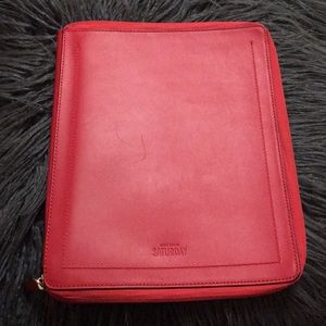 Kate Spade portfolio agenda clutch red